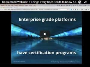 On Demand Webinar: 6 Things Every Atlassian Customer Should Know about the New Atlassian Certification Webinar Screen